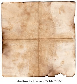 Old grunge antique paper with spots and stains square background