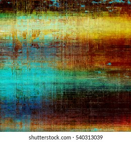 Old grunge background or aged shabby texture with different color patterns: yellow (beige); brown; green; blue; red (orange)
