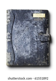 old grunge Black color leather binder