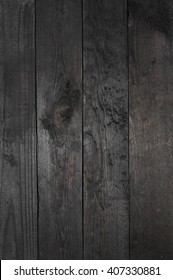 old grunge black wood texture - background