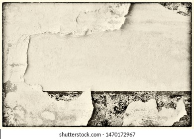 Old grunge blank brown creased crumpled paper texture background ripped torn vintage collage posters placard empty space for text