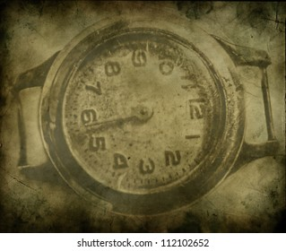 An old grunge clock abstract background