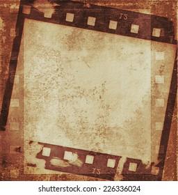 old grunge film strip background