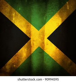 Old grunge flag of Jamaica