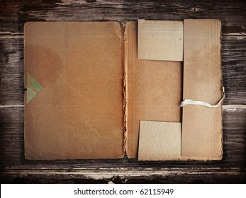 Old grunge folder