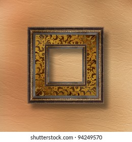 Old grunge frames Victorian style on the abstract background with flowers