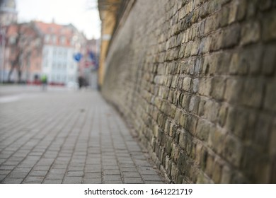 old grunge interior with brick wall. Selective focus. - Shutterstock ID 1641221719