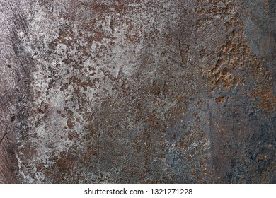 old grunge metal background with rust and irregular surface