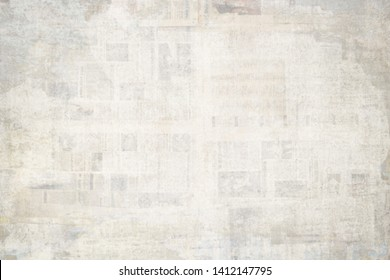 OLD GRUNGE NEWSPAPER BACKGROUND, DISTRESSED PAPER TEXTURE, SPACE FOR TEXT