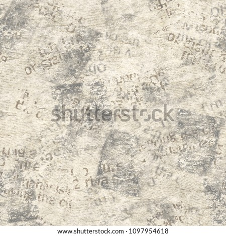 Old Grunge Newspaper Collage Seamless Pattern Stock Photo Edit Now