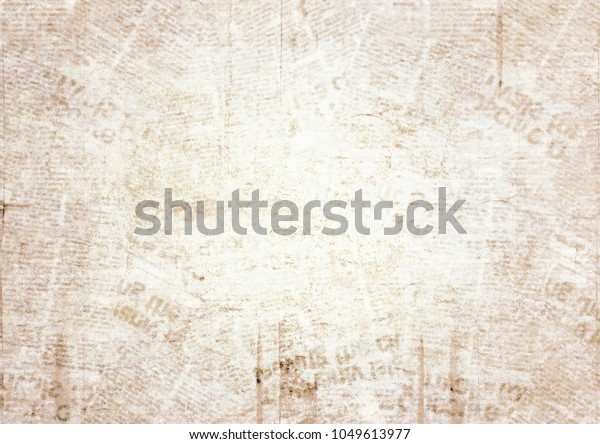 Old Grunge Newspaper Paper Texture Background Stock Photo