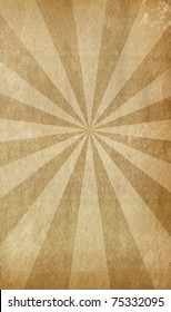 Old grunge paper with vintage sunburst texture