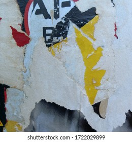 Old grunge ripped torn retro collage posters - Abandoned billboard
