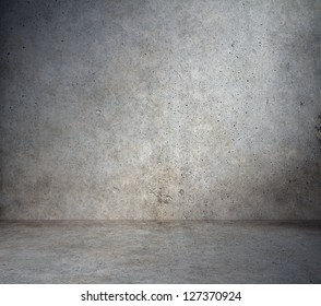 old grunge room with concrete wall, urban background