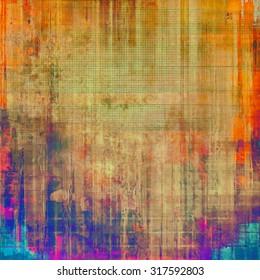 Old grunge textured background. With different color patterns: brown; red (orange); blue; purple (violet)