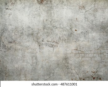 Old Grunge Wall Background | Stylish vintage fantasy stone stucco texture with crackles and scratches for design