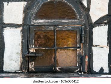 old grunge window, closeup