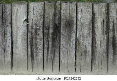 Old grunge wood fence and planks texture