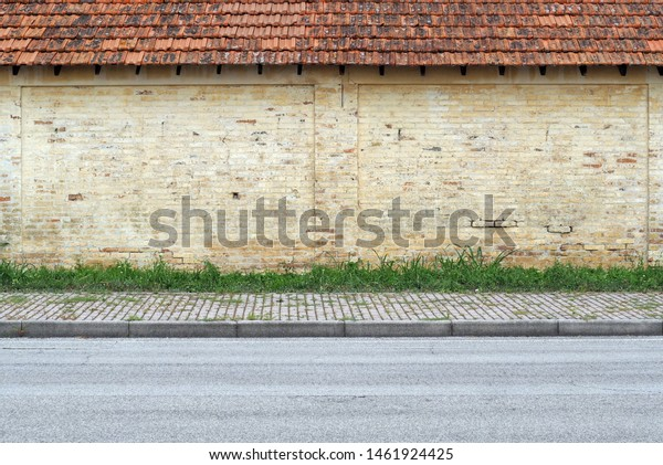Old Grunge Yellow Brick Wall Terracotta Stock Photo Edit Now