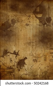 Old grungy background in sepia