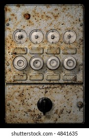 old grungy fuse box