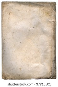 Old Grungy Paper - XXL size - isolated on white with clippin path