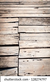 old grungy Wood Deck