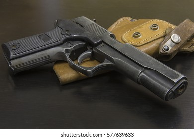 Old gun with holster.