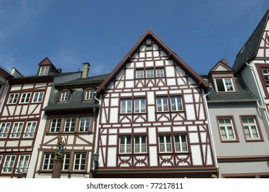 Old half timber house in the historical old town of Mainz - Germany