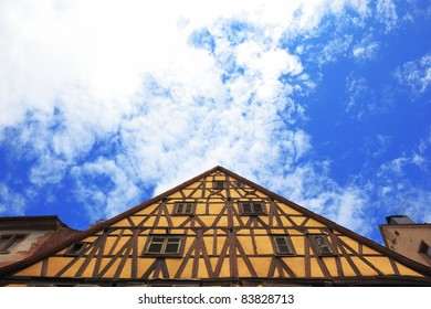 old half timbered house in Alsace, France