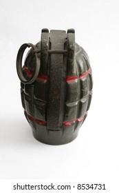 an old hand grenade, circa 1965