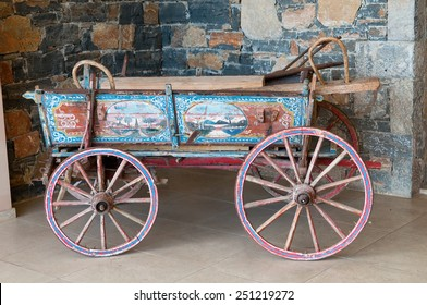 Old hand painted horse carriage