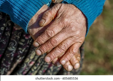 OLD HAND – Stock Image