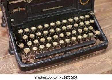 Old hand typewriter