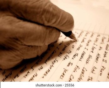 Old Hand Writing Letter