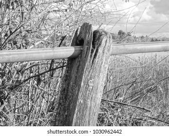Old Handrail In Rural Somerset, UK