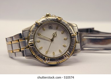 old handwatch on white background