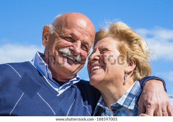 old happy couple