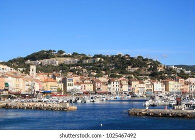 The Old Harbor of Cassis, town  situated on the Mediterranean coast in the  east of Marseille, France
