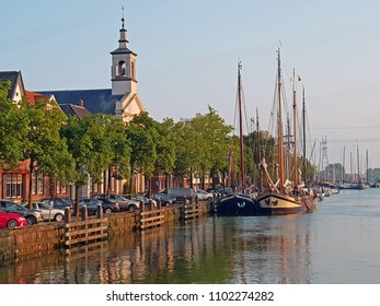 The old harbor from Muiden in the Netherlands