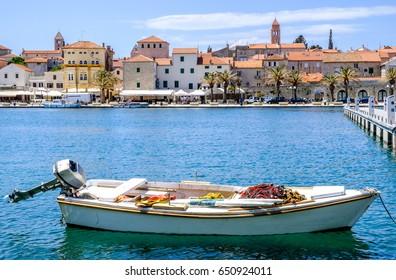 old harbor of rab - croatia