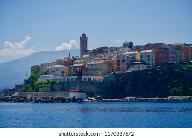 Old harbour of Bastia, seen from the ocean