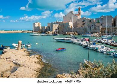 Old harbour in Giovinazzo, province of Bari, Puglia, southern Italy.