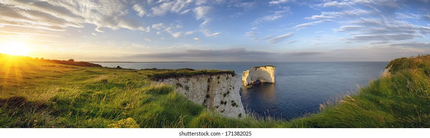 Old Harry Rocks on the Jurassic Coast in Dorset