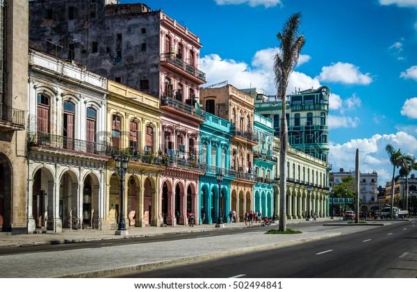Old Havana Downtown Street - Havanna, Kuba