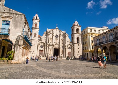 Old Havana - La Habana Vieja -  The City Center - Downtown  Havana, Cuba. Photo taken on 30 October 2018