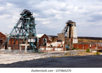 The old head gear of Hatfield colliery, South Yorkshire