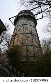 the old Helmert's astronomical observation tower on Telegraph Hill in Potsdam, Germany. Here the astronomical coordinates  are based  for the European Datum (ED 50).
