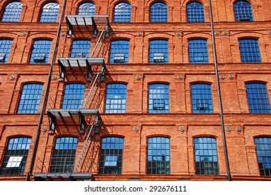 old historic brick factory building in Lodz revitalized as hotel