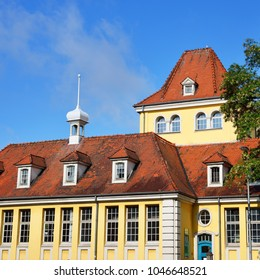 An old historic building in Heford, Germany on a clear sunny day